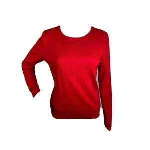 Ann Taylor Medium Petite Red Wool Blend Sweater
